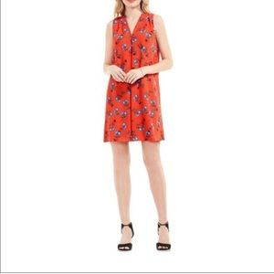 VINCE CAMUTO: Red Shift Dress 1X